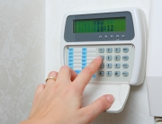 Close up of a security alarm keypad