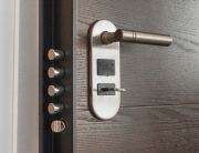 door with secure locking mechanism